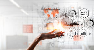 Het voorstellen van draadloze technologieën Stock Foto