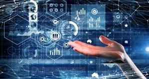Het voorstellen van draadloze technologieën Gemengde media Royalty-vrije Stock Afbeelding