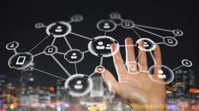 Het voorstellen van draadloze technologieën Gemengde media Royalty-vrije Stock Foto