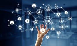 Het voorstellen van draadloze technologieën Gemengde media Gemengde media Royalty-vrije Stock Afbeelding