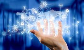 Het voorstellen van draadloze technologieën Gemengde media Gemengde media Royalty-vrije Stock Afbeeldingen