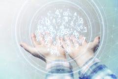 Het voorstellen van draadloze technologieën in zaken en financiën Stock Foto