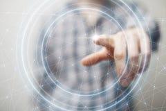 Het voorstellen van draadloze technologieën in zaken en financiën Royalty-vrije Stock Foto