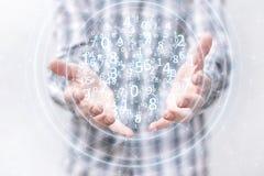 Het voorstellen van draadloze technologieën in zaken en financiën Stock Afbeelding