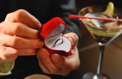 Het voorstellen van het huwelijk royalty-vrije stock foto's