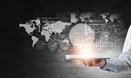 Het voorstellen van media technologieën Gemengde media Stock Afbeelding