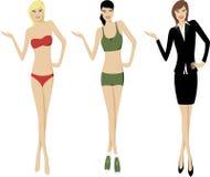 Het voorstellen van Meisjes Stock Foto's