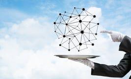 Het voorstellen van moderne draadloze technologieën Stock Afbeeldingen