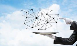 Het voorstellen van moderne draadloze technologieën Royalty-vrije Stock Afbeelding