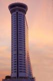Het voortbouwen op de zonsondergang Stock Afbeeldingen