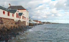 Het voortbouwen op een kust Stock Fotografie