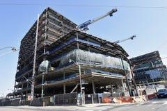Het voortdurende Gouden de Strijders nieuwe stadion van de Staat in aanbouw, 19 royalty-vrije stock afbeelding