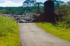 Het vooruitgaan van lava Royalty-vrije Stock Afbeeldingen