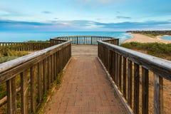 Het vooruitzicht die bij Southport-Haven Noarlunga het strand overzien stock fotografie