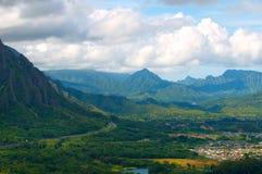 Het Vooruitzicht Oahu van Pali royalty-vrije stock foto