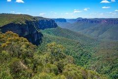 Het vooruitzicht van de Govettssprong, blauw bergen nationaal park, Australië 3 stock foto's