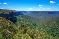 Het vooruitzicht van de Govettssprong, blauw bergen nationaal park, Australië 5 royalty-vrije stock afbeeldingen