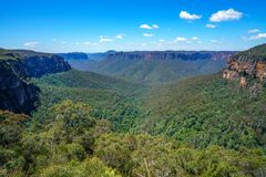 Het vooruitzicht van de Govettssprong, blauw bergen nationaal park, Australië 6 royalty-vrije stock afbeeldingen