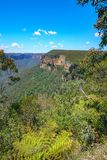 Het vooruitzicht van de Govettssprong, blauw bergen nationaal park, Australië 10 stock afbeelding
