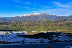 Het Vooruitzicht van de kapiteinsweg, die een overweldigende mening van het omringen van bergketen aanbieden royalty-vrije stock foto's