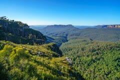 Het vooruitzicht van de klippenmening, blauw bergen nationaal park, Australië 1 stock foto's