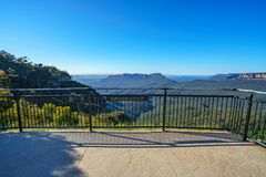 Het vooruitzicht van de klippenmening, blauw bergen nationaal park, Australië 5 stock fotografie