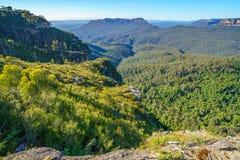 Het vooruitzicht van de klippenmening, blauw bergen nationaal park, Australië 2 stock afbeelding