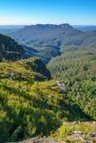 Het vooruitzicht van de klippenmening, blauw bergen nationaal park, Australië 4 royalty-vrije stock afbeeldingen