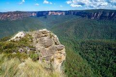 Het vooruitzicht van de preekstoelrots, blauw bergen nationaal park, Australië 8 royalty-vrije stock fotografie