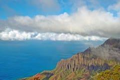 Het Vooruitzicht van de Vallei van Kalalau - Kauai, Hawaï Stock Afbeeldingen