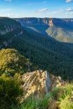Het vooruitzicht van de valleimening, blauw bergen nationaal park, Australië 13 royalty-vrije stock fotografie