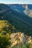 Het vooruitzicht van de valleimening, blauw bergen nationaal park, Australië 14 royalty-vrije stock foto's