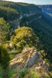 Het vooruitzicht van de valleimening, blauw bergen nationaal park, Australië 15 stock afbeelding