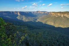 Het vooruitzicht van de valleimening, blauw bergen nationaal park, Australi? 2 royalty-vrije stock foto