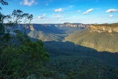 Het vooruitzicht van de valleimening, blauw bergen nationaal park, Australi? 4 stock foto
