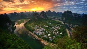 Het Vooruitzicht van Guilinxingpingzhen royalty-vrije stock fotografie