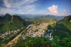 Het Vooruitzicht van Guilinxingpingzhen royalty-vrije stock foto's