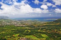 Het vooruitzicht van Hawaï Pali Stock Afbeeldingen