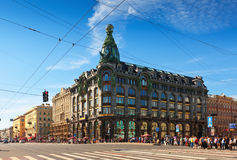 Het Vooruitzicht van Nevsky in Heilige Petersburg royalty-vrije stock afbeeldingen