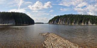 Het voorwerp van Unesco-bossen van de de plaats de Maagdelijke Komi-Republiek van de werelderfenis Stock Afbeelding