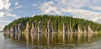 Het voorwerp van Unesco-bossen van de de plaats de Maagdelijke Komi-Republiek van de werelderfenis Stock Foto's