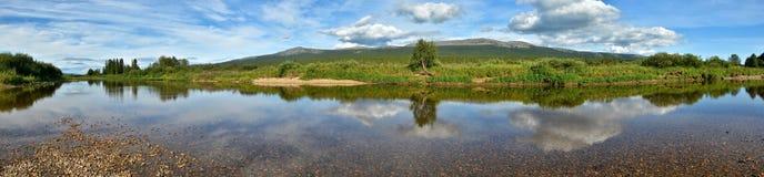 Het voorwerp van Unesco-bossen van de de plaats de Maagdelijke Komi-Republiek van de werelderfenis Royalty-vrije Stock Afbeeldingen