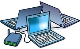 Het Voorzien van een netwerk van de computer Royalty-vrije Stock Fotografie