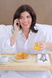 Het Voorzien van een netwerk van het ontbijt Stock Foto