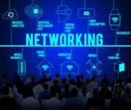 Het voorzien van een netwerk Verbonden Concept van de Hommelstechnologie stock foto