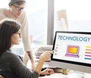 Het Voorzien van een netwerkconcept van technologie Online Internet stock foto's
