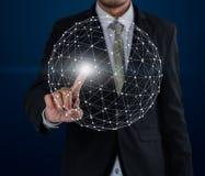 Het voorzien van een netwerktechnologieën van de bedrijfsmensenaanraking en sociale interactio Royalty-vrije Stock Afbeelding
