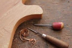 Het vormen van de gitaar Royalty-vrije Stock Fotografie