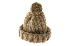 Het vouwen van crochet hoed stock foto's