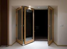 Het vouwen van deuren Royalty-vrije Stock Afbeelding